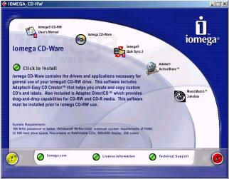 The CD-Ware installer application - Click to enlarge