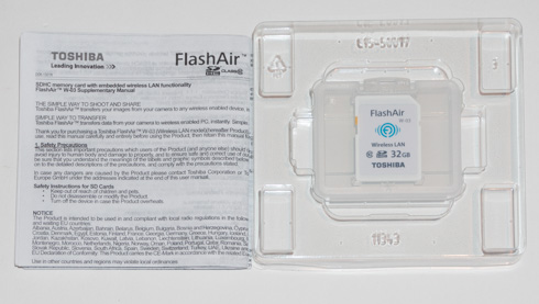 Toshiba FlashAir III 32GB SDHC review - Printer Friendly version