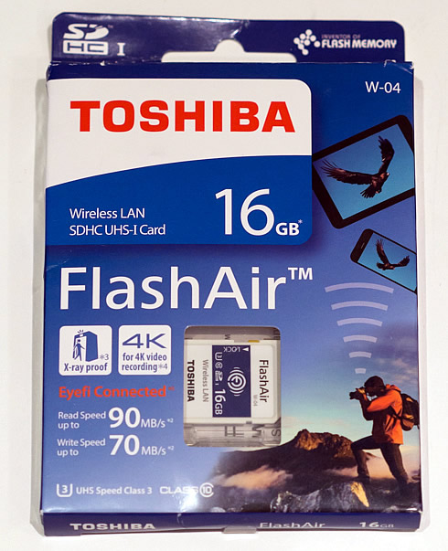 Testing Toshiba's Storage devices: FlashAir W-04, TransMemory U363