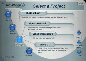 Make a Photo or Video CD - Click to enlarge
