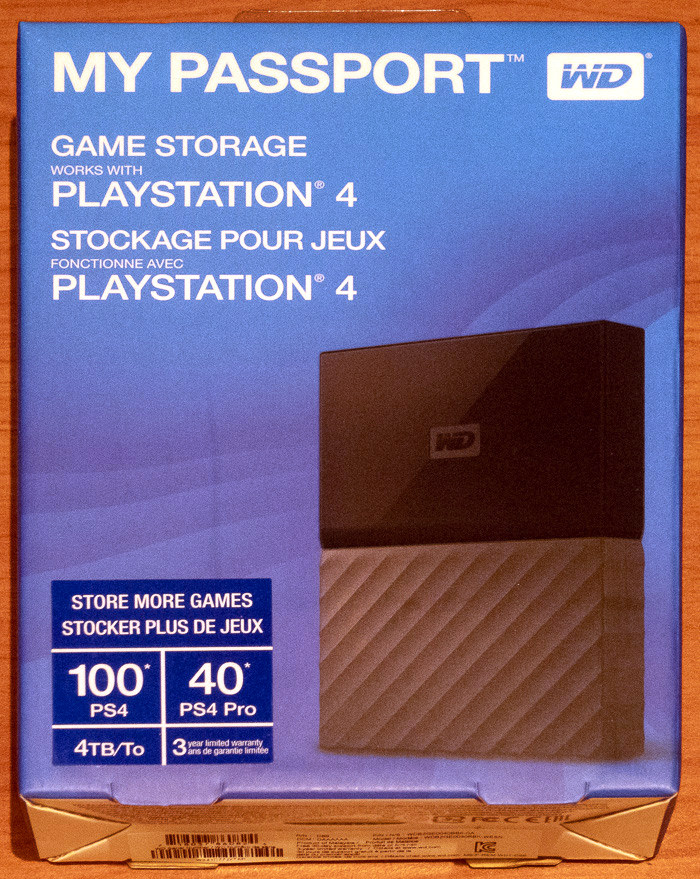 WD My Passport 4TB PS4 HDD | CdrInfo com