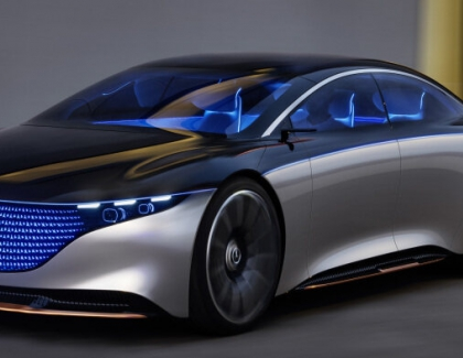 Mercedes-Benz Vision EQS Show Car Debuts At Frankfurt Show