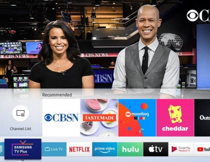 CBSN Joins Over Free TV Channels on Samsung TV Plus