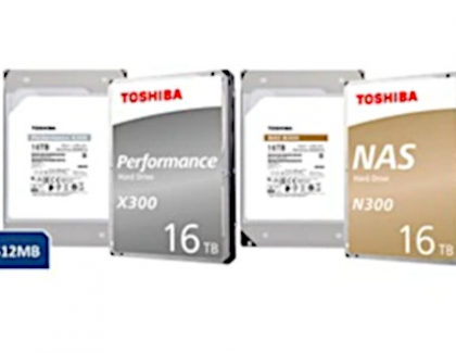 Toshiba Adds 16TB Capacity to N300 and X300 Internal Hard Drive Series