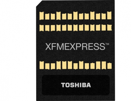 Toshiba's XFMEXPRESS Technology to Power Removable NVMe Memory Devices with Groundbreaking Size to Performance Ratio