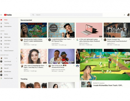 YouTube on Desktop Redesigned