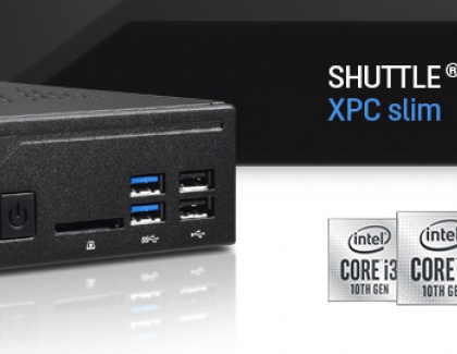 Shuttle 1.3-litre PCs all set for Intel Core processors of the 10th generation