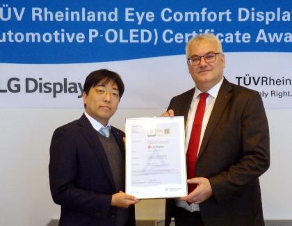 LG Display Receives Eye Comfort Display Certification for Automotive P-OLED Displays From TÜV Rheinland