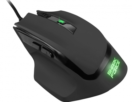 Sharkoon SHARK Force II | Ergonomic Gaming Mouse with High-Performance Sensor