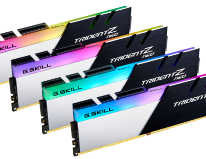 G.SKILL Updates Trident Z Neo DDR4 Specs Up To DDR4-4000 CL16 16GBx2 for AMD Ryzen 5000 CPUs