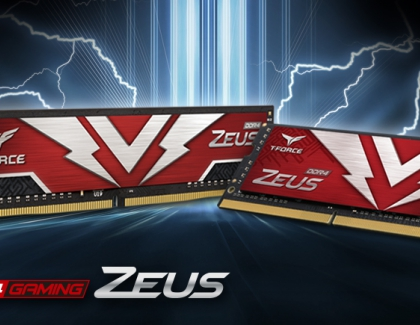 TEAMGROUP Launches Two ZEUS Series Gaming Memory Modules Evoke the Power of the Thunder God Strike Like Lightning in the Battlefield