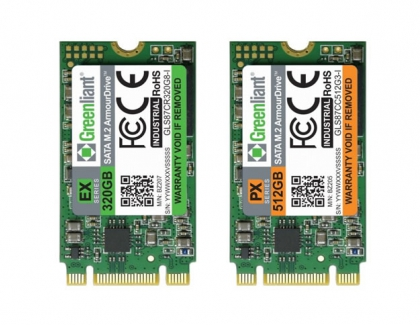 Greenliant Samples Ultra-High Endurance Industrial SATA M.2 SSDs, Supporting 300K P/E Cycles