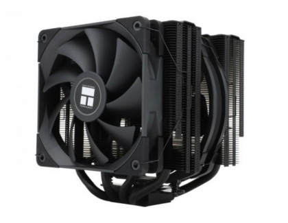 Thermalright Offers Black twin tower sideflow cooler with 120mm and 140mm fans