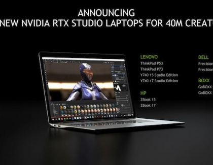 SIGGRAPH: NVIDIA Announces New RTX Studio Laptops, Brings Ray Tracing, AI to Creatives
