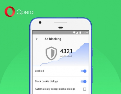 Opera Browser for Android Blocks GDPR Cookie Dialogs