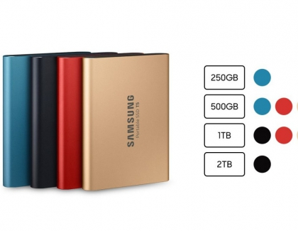 Samsung's T5 Portable SSD Has New Colors