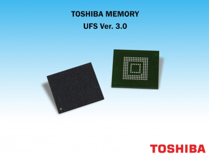 Toshiba Unveils First UFS Ver. 3.0 Embedded Flash Memory Devices