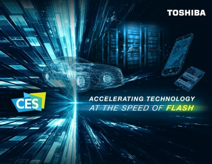 Toshiba to Showcase BiCS FLASH 3D Flash Memory at CES 2019