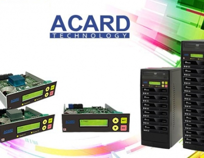 Vinpower Acquired Rights and IP's Related to ACARD Technology's Duplication Products