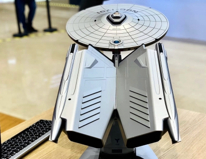 Lenovo Showcases Spaceship-shaped Titanium Enterprise Computer