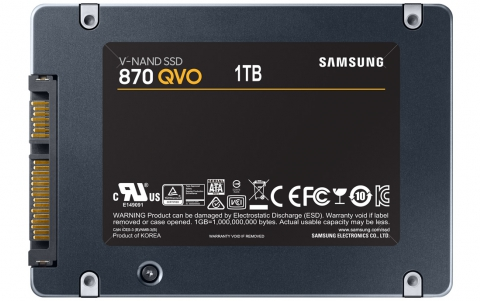 Samsung announces 870 series QVO SSDs