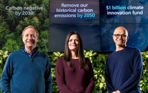 Microsoft Aims at Becoming  Carbon Negative by 2030