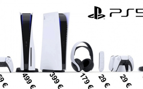 Prices of the Playstation 5 and its accessories get listed