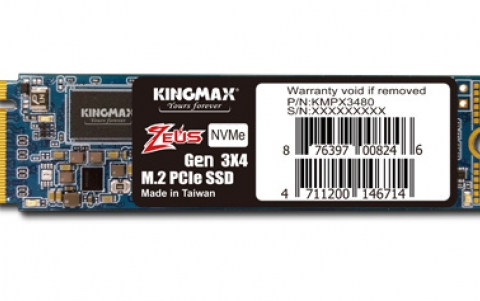 KINGMAX Introduces M.2 2280 PCIe NVMe Gen3x4 SSD