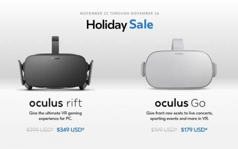 Facebook's Black Friday Deals on Oculus Rift and Go VR Are Anemic