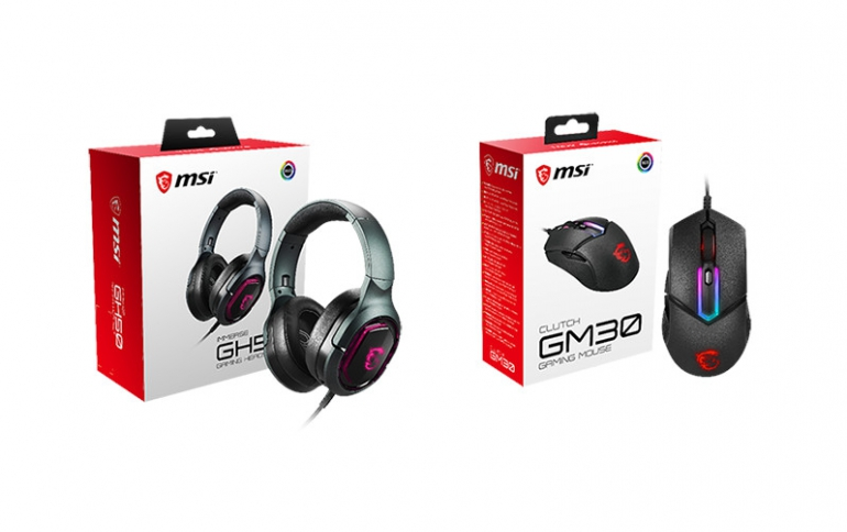 MSI Launches the MSI CLUTCH GM30 Gaming Mouse and IMMERSE GH50 Gaming Headset