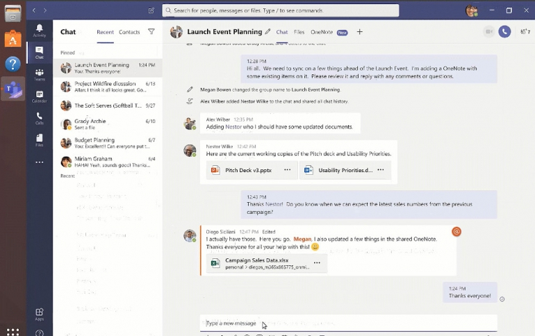 Microsoft Teams Available on Linux