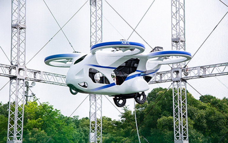 NEC Demos Flying Car Concept