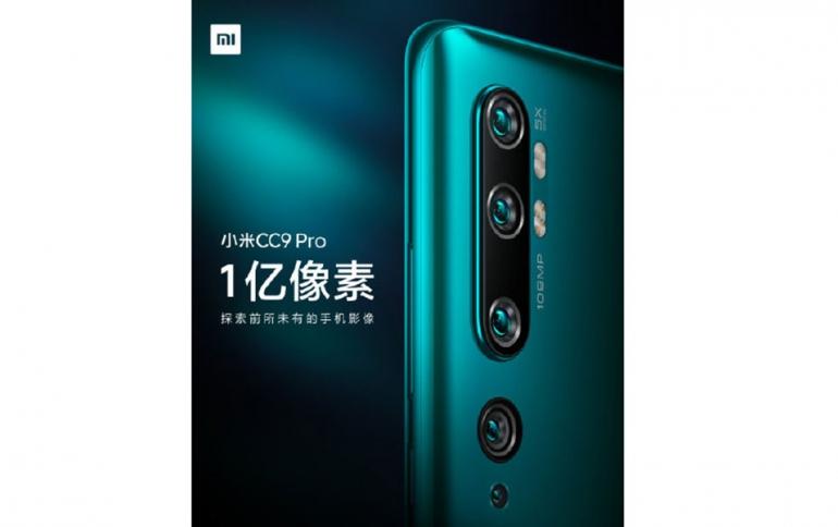 Mi CC9 Pro Coming With a Penta-Camera Setup