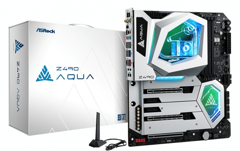 ASRock Launches the Z490 AQUA Watercooled Motherboard for Gaming Enthusiasts