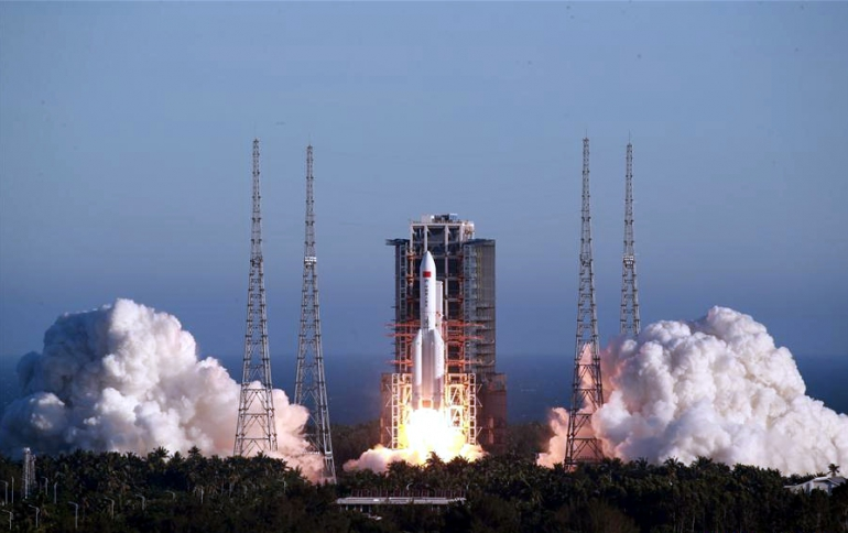 China Launches Spacecraft Using Long March-5B Carrier Rocket