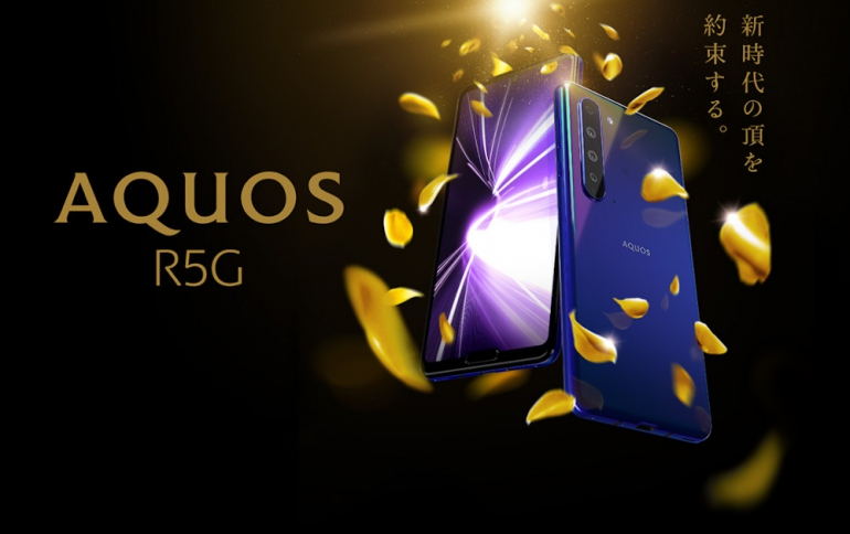 New Sharp AQUOS R5G Smartphone Supports 8K Video