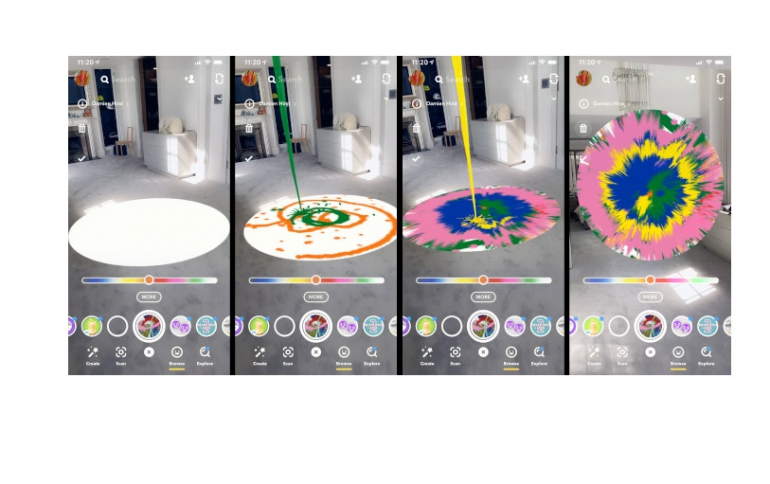 Snap New Spin on Painting With Damien Hirst Lens