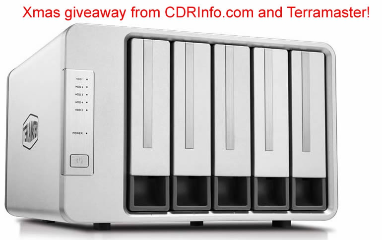 Xmas Giveaway from CDRInfo.com and Terramaster!