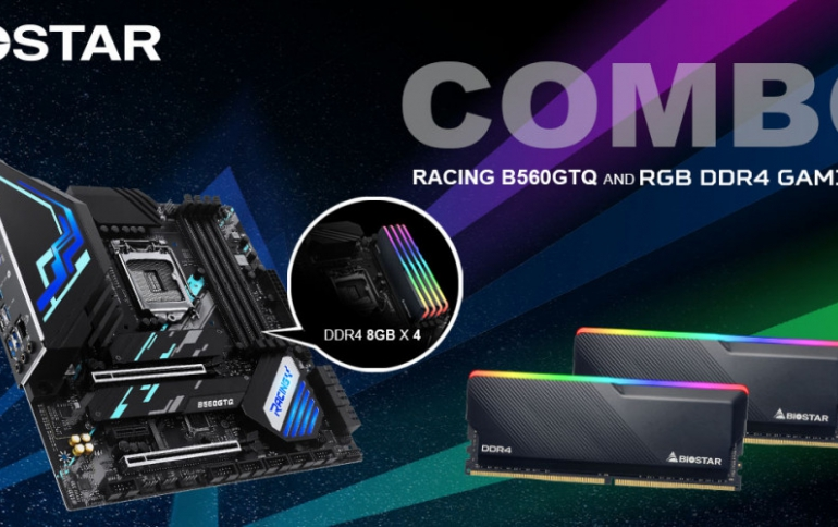 BIOSTAR SHOWCASES THE RACING B560GTQ MOTHERBOARD PAIRED WITH THE RGB DDR4 GAMING RAM KIT