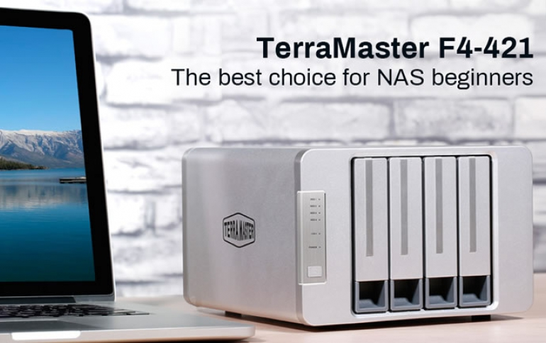 TERRAMASTER INTRODUCES F4-421 PROFESSIONAL NAS WITH INTEL QUAD-CORE PROCESSOR