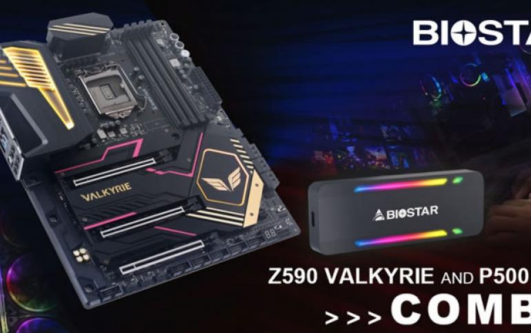 BIOSTAR SHOWCASES Z590 VALKYRIE MOTHERBOARD AND P500 1TB SSD COMBO
