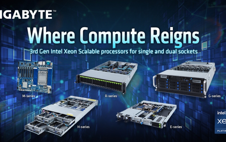 GIGABYTE Debuts Servers for 3rd Gen. Intel® Xeon® Scalable Processors