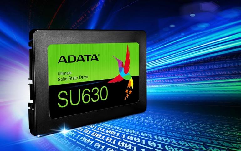 ADATA Ships New SU630 QLC 3D NAND SSD