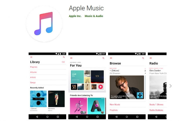 Apple Music Now Available on Android Tablets