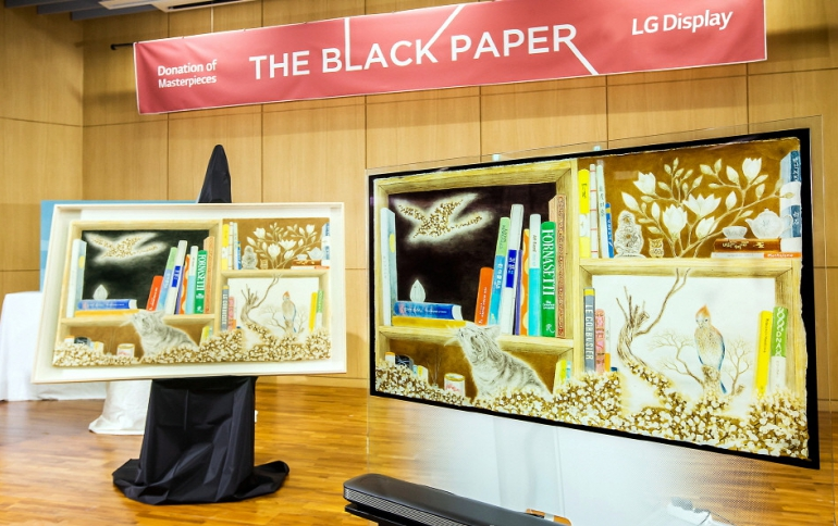 LG Display Presents Digital Masterpieces Through Its OLED TVs
