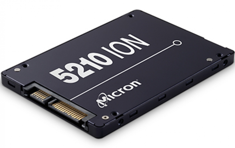 Micron Releases The 5210 ION SSD, Starts Mass Production of Monolithic 12Gb LPDDR4x DRAM
