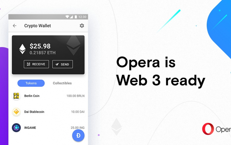 Opera Launches a Cryptocurrency Wallet in Opera Browser For Android