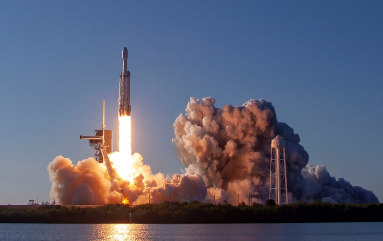 SpaceX Lands All Three Falcon Heavy Rocket Boosters