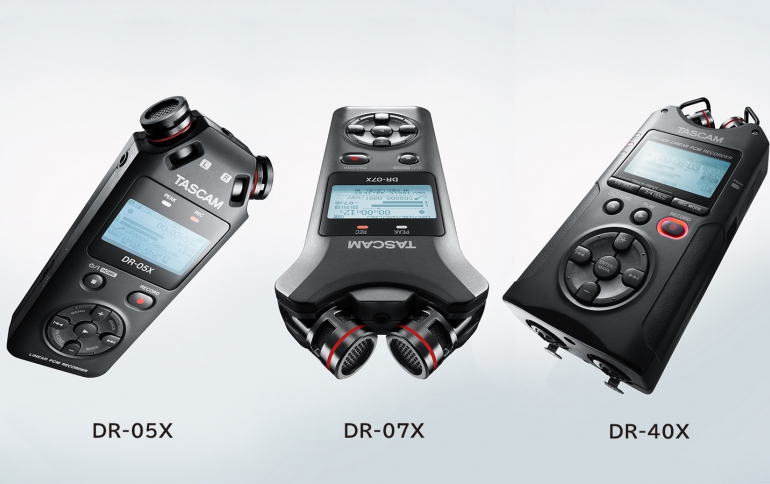 TASCAM Introduces New DR-X Series Digital Audio Recorder and USB Audio Interface