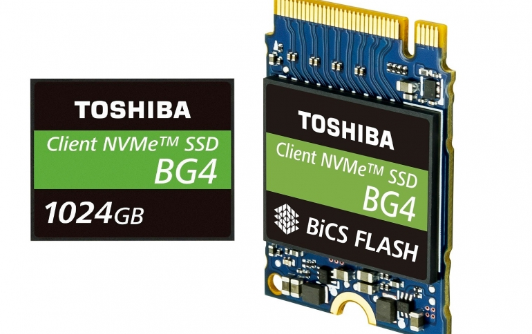 Toshiba Unveils 1TB Single Package PCIe Gen3 x4L SSDs with 96-Layer 3D Flash Memory